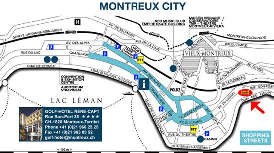 Monteux  Plan Ville
